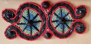 Decoración moda hecha de abalorios