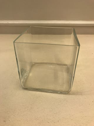 Jarrón pequeño de cristal