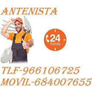 Antenista instalación DESDE 120E/40%DTO/AVERÍAS.