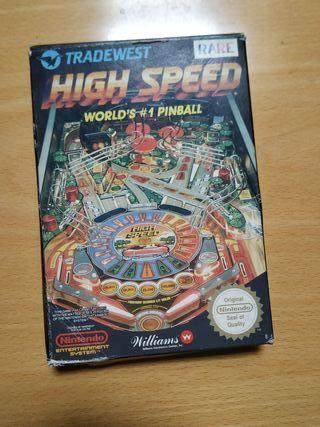 High speed pinball nintendo original.
