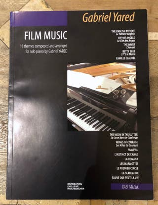 18 partitions pour piano Film Music Gabriel Yared