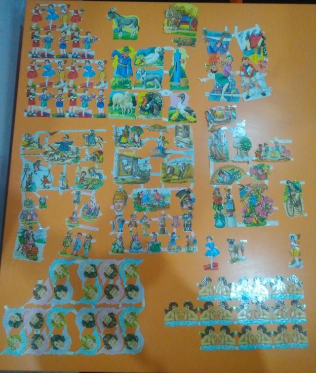 colección de cromos antiguos