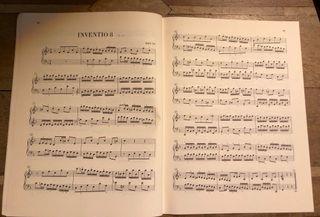 livret partition J.S. Bach, Inventionen Sinfonien