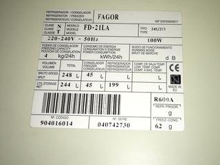 Frigorífico combi mediano Fagor 150cm