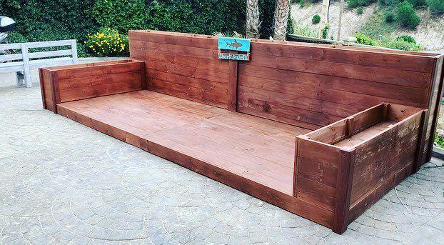 Tarima Terraza Jardineras Madera Palets Bar De Segunda Mano