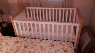 Cuna bebe 140x70 cm + Colchon Viscoelastico