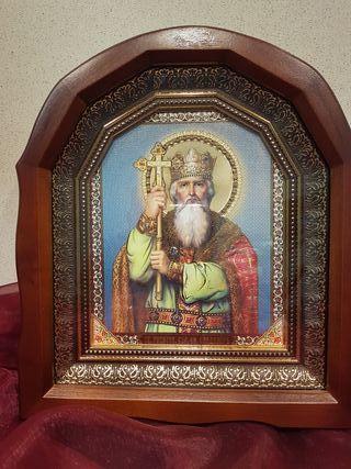icono ortodoxo ucraniano.San Nicolás.