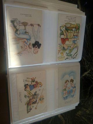 dos albums de postales algunas del siglo pasado