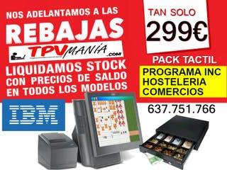 TPV TACTIL IBM TODO INCLUIDO ,BARES, TIENDAS.