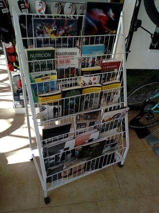 Expositor revistas, folletos, libros
