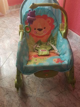 silla mecedora bebe Fisher price nuevecita
