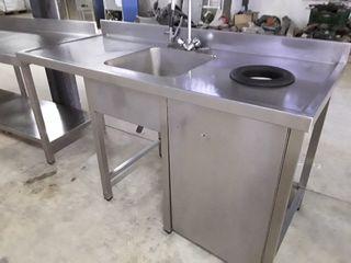 Mesa de lavado con aro desbarazado