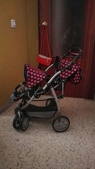 carrito para dos muñecas