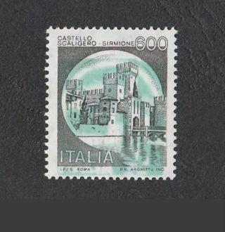 sello de Italia con error de impresión desplazado