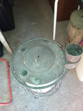estufa antigua para leña