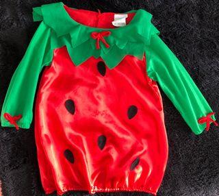 Disfraz de fresa talla 3-4 años