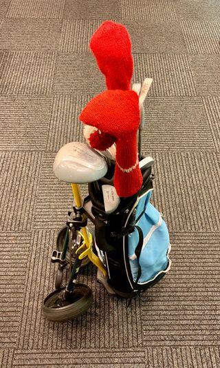 Juego golf junior:carro Golf con bolsa y palos