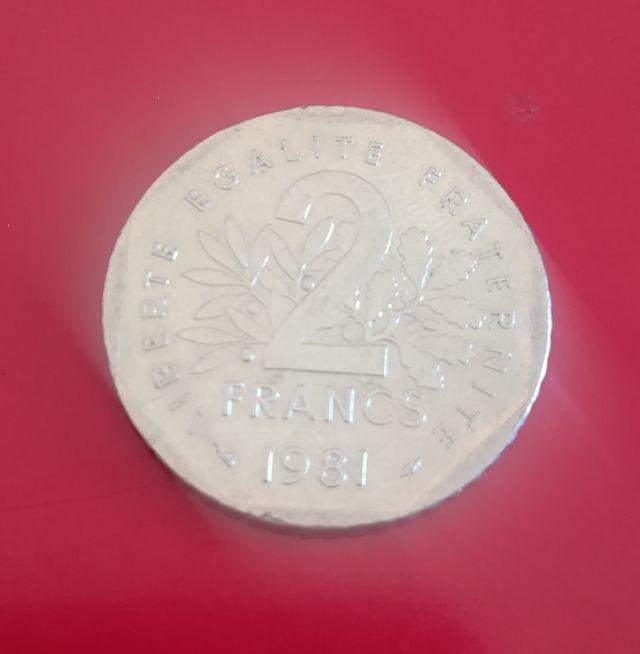 Moneda de dos francos franceses