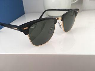 Gafas de sol RAYBAN CLUB MASTER original nueva 55%
