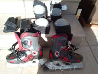 patines en linea y accesorios poco uso.