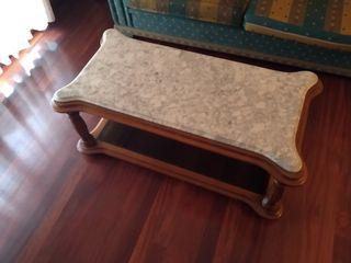 Mesa de centro, encimera de marmol