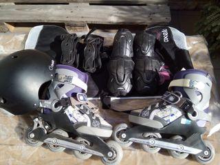 patines en linea , coderas ,muñequeras,rodilleras