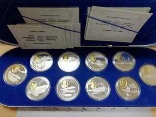 1990/94 Canada - Set 10 monedas de plata y oro - H