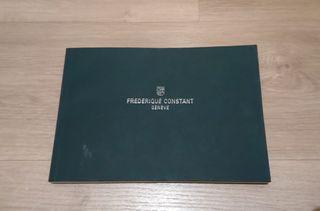 Libro catálogo Frederique Constant.
