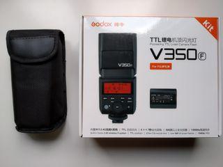 Flash externo Godox V350f para cámaras fujifilm
