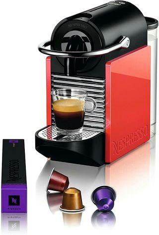 Nespresso Pixie Cafetera de cápsulas Roja/Naranja