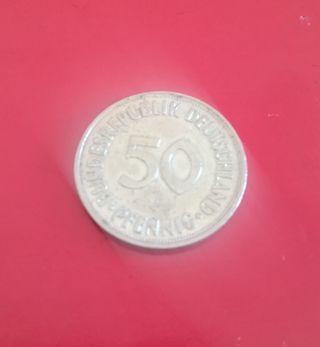 Moneda alemana 50 pfenning