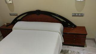 se vende conjunto cama completa+mesillas+colchon