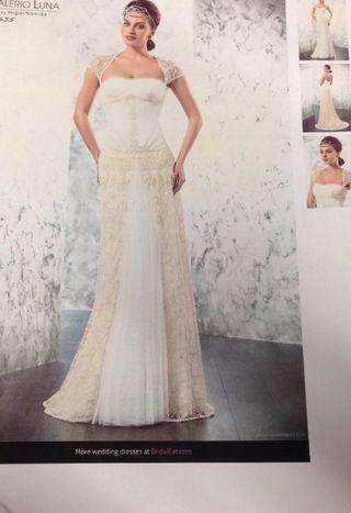 precioso vestido novia vintage valerio luna de segunda mano por