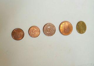 monedas de cts de euro 1999 España-Francia