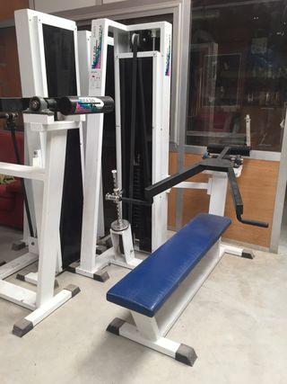 Press banca placas maquina gimnasio
