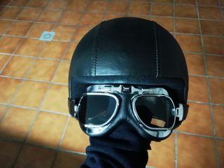 Casco, gafas moto helmet café racer