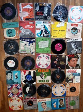"""Lote de 35 discos de tango de 7"""""""