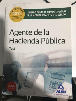 Libro test agente hacienda pública 2015