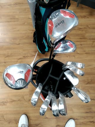 Set palos de golf junior unisex con bolsa.