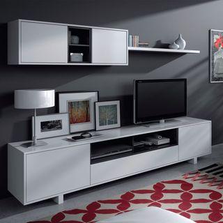 Mueble moderno de salón comedor iferior y superior