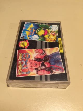 Psycho Pigs y Mad Mix Game para Commodore64