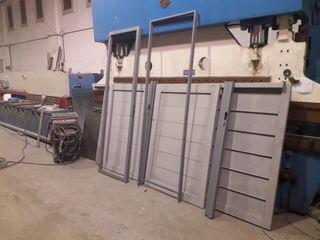 puertas y vallados chapa plegada