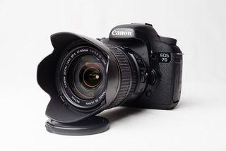 Canon 7d con objetivos