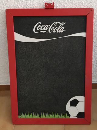 Cartel Pizarra Coca Cola Futbol