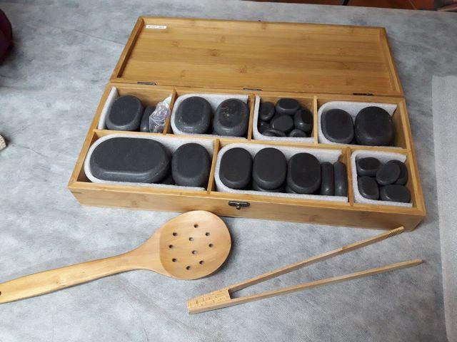 piedras masaje y calentador