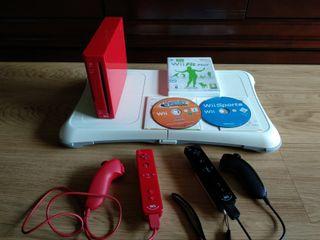 Wii edición roja + Disco duro externo