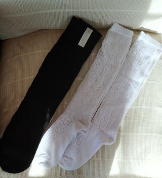 2 Calcetines y 1 panty hilo algodón