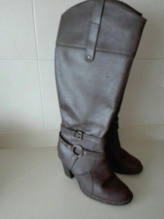 botas marrones talla 38
