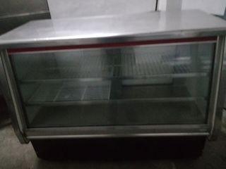 vitrina espositora de frío 1,50 acero
