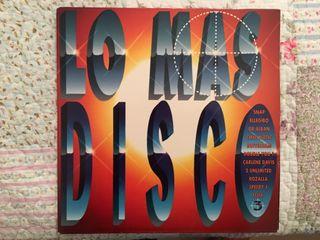 Lo más disco. disco vinilo.